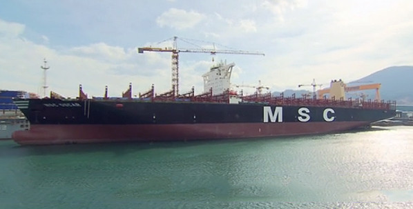 LUKOIL Marine supplies world's largest container vessel from MSC