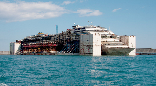 Costa Concordia recycling project completed in Genoa