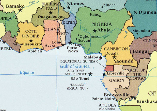 Africa Map Gulf Of Guinea | Campinglifestyle