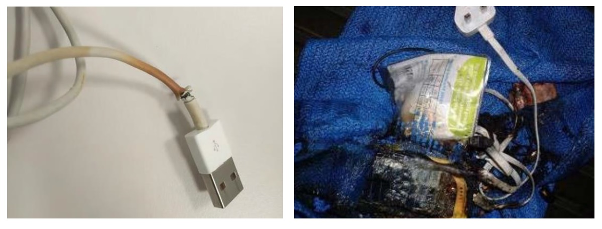 Mobile phone charger failures result in incidents onboard