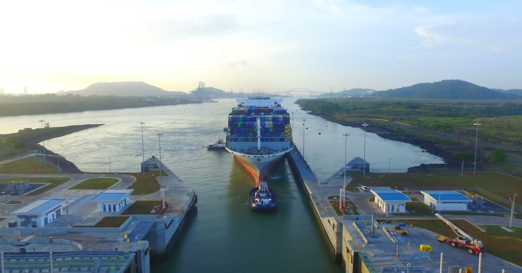 OOCL France is largest ship to transit expanded Panama Canal