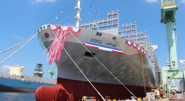 OOCL names third 21,000 TEU boxship