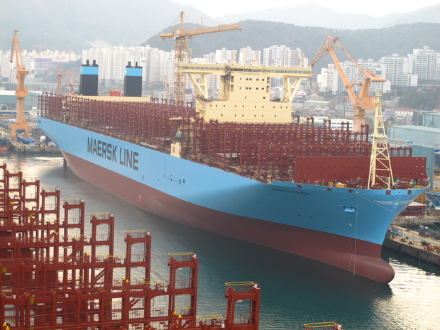 Maersk's Largest Boxships Supplied With GE's Fuel