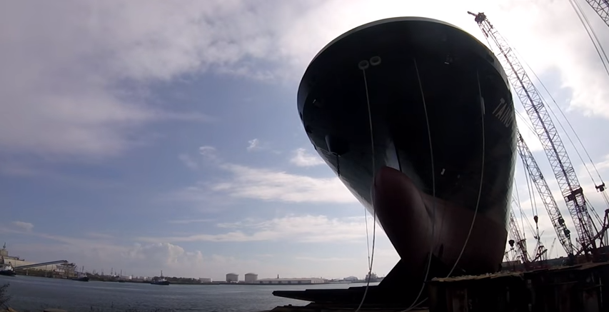 LNG-Fueled ConRo Ship launched at VT Halter Marine