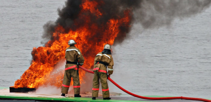 containership fire