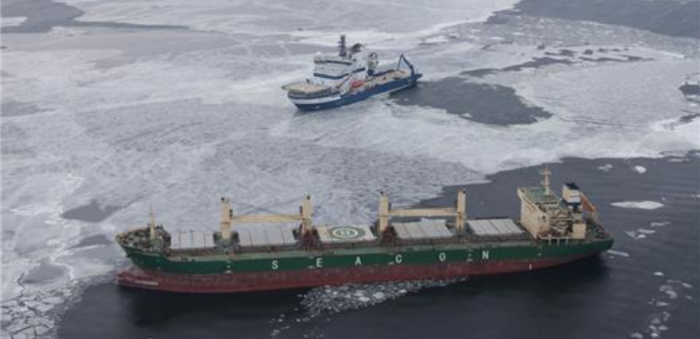 Cargo ship took water in Gulf of Finland