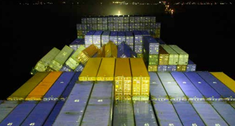 Over-tightening lashings on containers hides risks