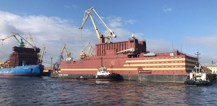 Russia's first floating nuclear power plant arrives in Arctic