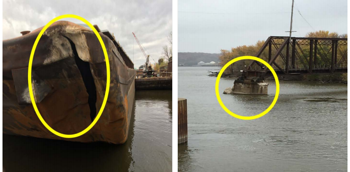 Lack of experience causes barge allision with fixed pier