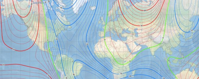 World's magnetic model moves from Canada Arctic to Siberia