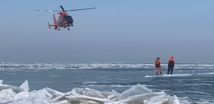 46 fishermen rescued from ice floe in Lake Erie