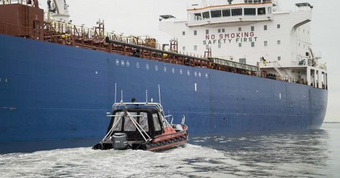 Port of Amsterdam tests sailing drone for inspecting ships at locks