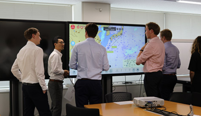 TU Delft students examine NYK's initiatives for digitalization and green