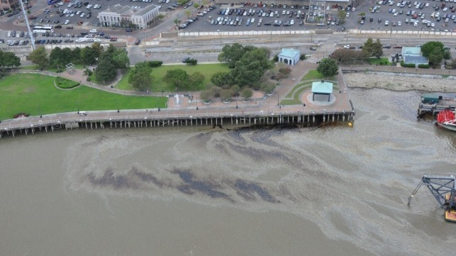 Clean up underway for oil spill near New Orleans