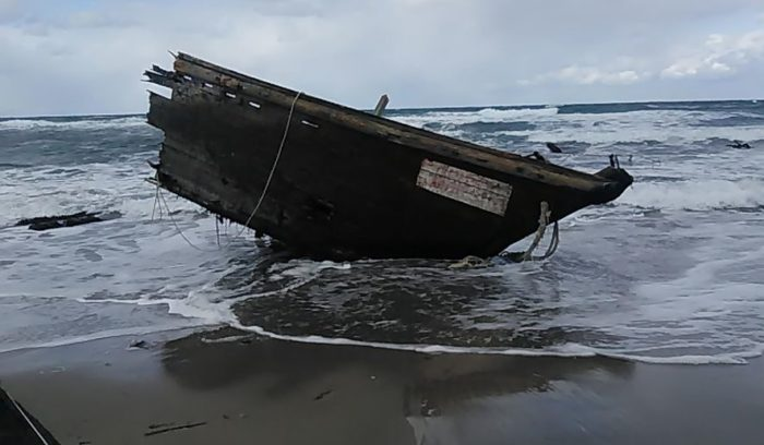 Ghost ship with human remains washes up on Japanese coast