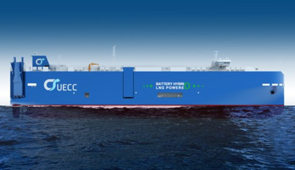 First steel cut for UECC's battery hybrid PCTC vessel