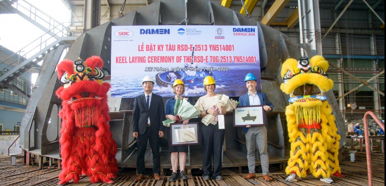 Keel laid for world's first fully electric tug