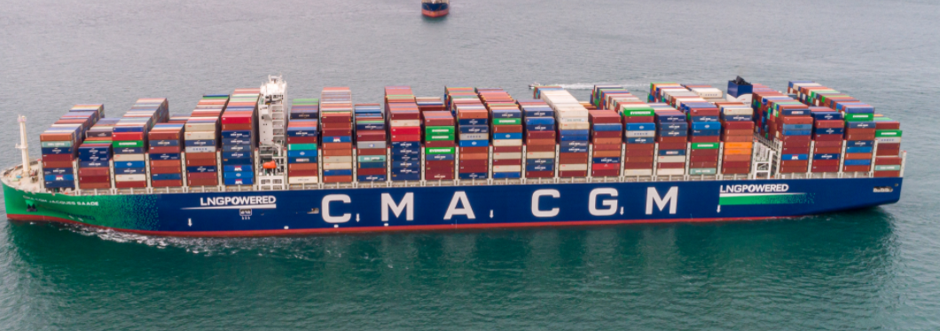 CMA CGM's largest LNG containership sets global record