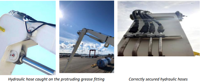Proper pre-use inspection should be conducted before crane operations
