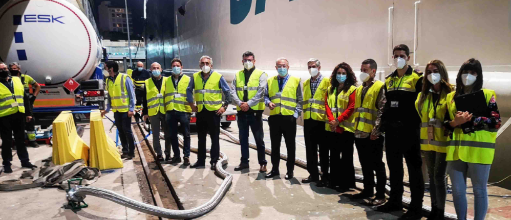 First natural gas bunkering at the port of Almería